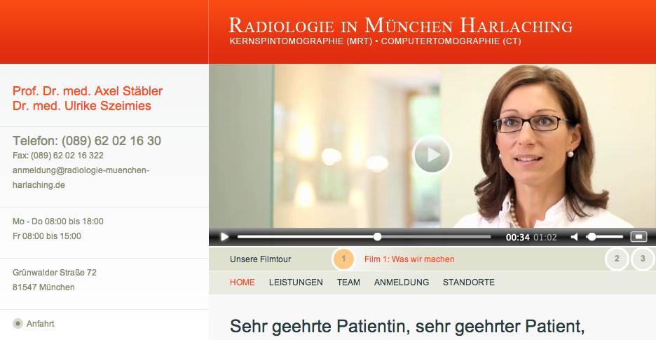 Patienteninformation: Radiologieuntersuchung (Kamera)